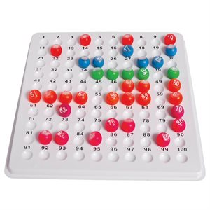 CHECK TRAY 1-100 FOR MARBLES