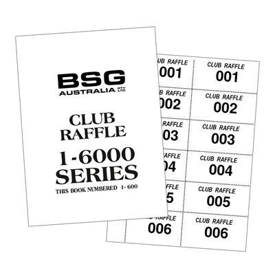 CLUB RAFFLE TICKETS 1-6000