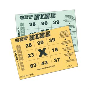 GET NINE RAFFLE TICKETS