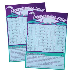 BSG JACKPOT BINGO DRAW (PACK OF 10)