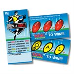 KICK A GOAL 2 x $100 25c LUCKY ENVELOPE