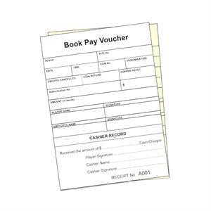 GENERIC POKER MACHINE PAYOUT VOUCHER BOOK - NSW - (DUPLICATE)