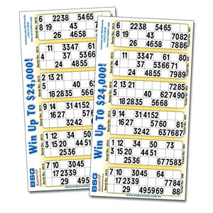 BSG REWARDS BINGO SINGLE TICKETS NSW