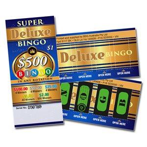 SUPER DELUXE BINGO 4 x $500 LUCKY ENVELOPES