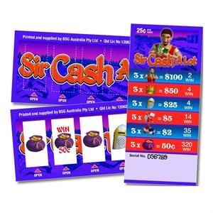 SIR CASH A LOT 2 x $100 LUCKY ENVELOPES