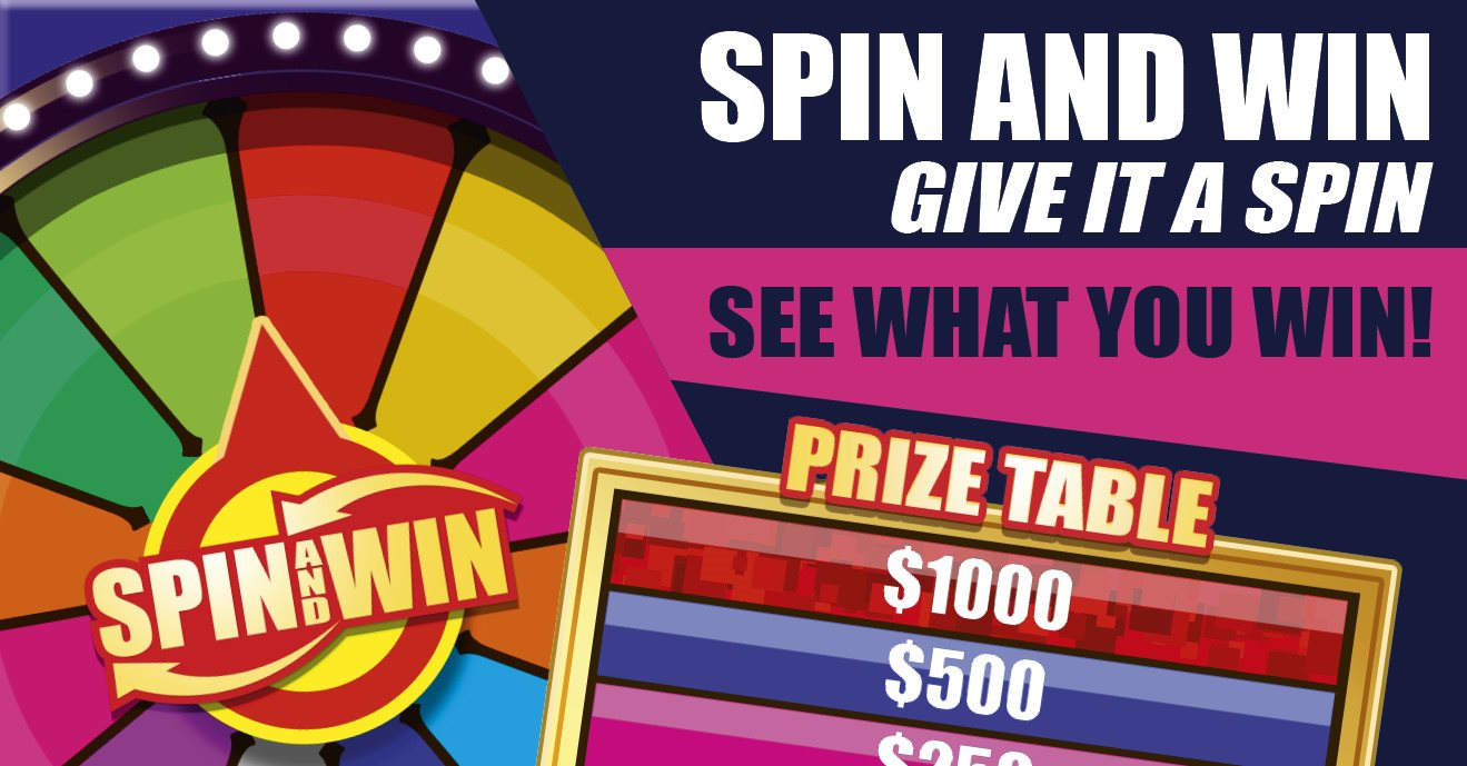 Spin and Win, Electrnoic  Promotional Spinning Wheel